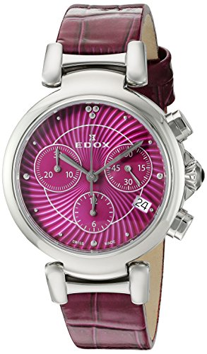 Edox Women's 10220 3C ROIN LaPassion Analog Display Swiss Quartz Pink Watch