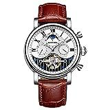 Armbanduhren,Kinyued Automatic Watch Moon Phase Mechanische Uhren Skeleton Wasserdicht, B