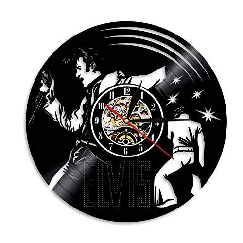 M-zmds LED-Wandleuchten, Nachtlicht, Wandleuchte, Gitarre Vinyl Record Design Wanduhr, 7 Farbwechsel Nachtlicht mit Fernbedienung dekorative Vintage Geschenk (Größe 12 Zoll)