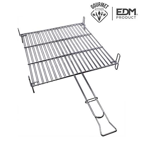 Grillrost 40 x 40 cm BBQ Chrom EDM -