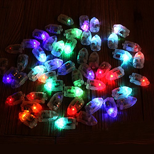 Inovey 50 Teile / Los Led Lampen Ballon Lichter Für Papierlaterne Ballon Multicolor Weihnachten Party Decor-Bunt (Rosa Rollwagen)