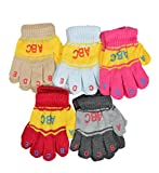 Crux&hunter pack of 5 woolen kids winter wool gloves age group of 1-3 years