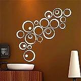 Bfeplfashion Home Accessories DIY Creative Decoration 3D Mirror Circle Wall Stickers - Silver