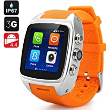 iMacwear SPARTA M7 Smart Watch Phone - 3G, IP67 Waterproof Rating, Android 4.4 OS, 1.54 Inch IPS Screen, Dual Core CPU (Silver)