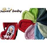 Sweet Baby ** SOFTY GRIS OSCURO ** Reductor para silla de bebé Maxi Cosi / Römer etc. / Protector de cuerpo para coche (0-6 meses)