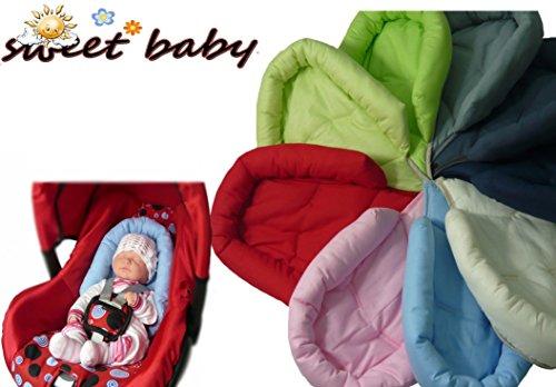 Sweet Baby ** ROT ** SOFTY Sitzverkleinerer / NeugeborenenEinsatz für BabyAutositz Gr. 0/0+ wie z.B. Maxi Cosi, Römer etc.