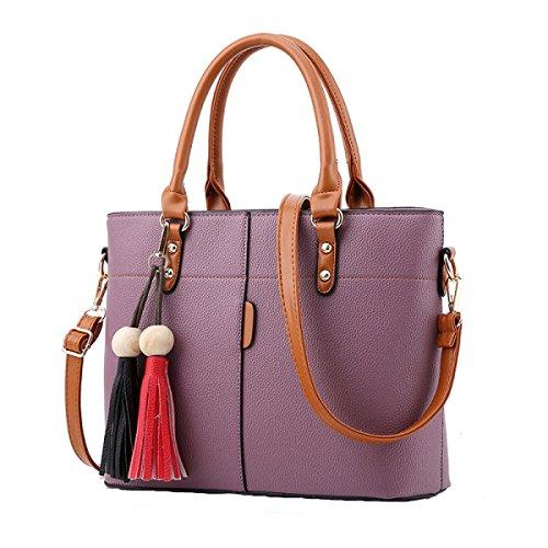 Damen Tasche Freizeit Tasche Schief Kreuz Paket Schultertasche Handtasche Einfach Wild Purple