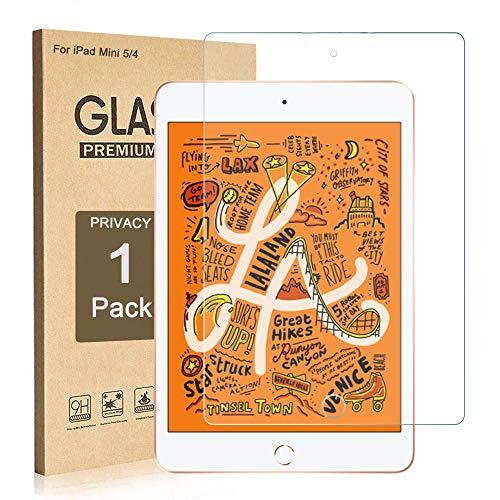 iPad Mini 5 (2019) / iPad Mini 4 Displayschutzfolie, gehärtetes Glas, kompatibel mit Apple Pencil/High Definition/Kratzfest/einfache Installation; blasenfreie Ersatzgarantie (durchsichtig) (Ipad 4 Screen Protector)