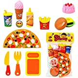 Jiada Fast Food Lunch Play Pizza Set Toy for Kids (Multicolour)