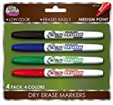 Board Dudes Dry Erase Markers, Medium Point, 4-Pack, Assorted Colors (4444BDUA-12) by The