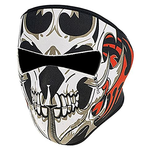 Lmeno Tribal Skull Neoprene Full Face Mask Reversible Warm Facemask Headwear Outdoor Sport Ski Skiing Snowmobile Snowboard