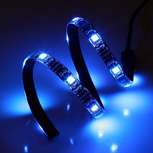 Albrillo LED TV Hintergrundbeleuchtung, 1M RGB USB LED Streifen mit Fernbedienung und 16 Farben, LED Strip Für 40 bis 60 Zoll HDTV,TV-Bildschirm und PC-Monitor