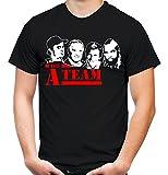 A-Team Männer und Herren T-Shirt   Spruch Hannibal B. A. Geschenk M5 (L, Schwarz)