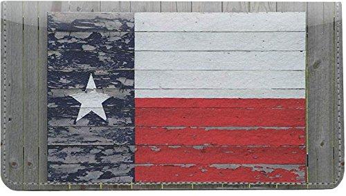 Texas Dekor (Notizbuch mit Texas-Flaggen, Leder)