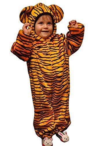 Seruna Tiger-Kostüm, ZO13/00, Gr. 104-110, für Kinder, Tiger-Kostüme für Fasching Karneval Fasnacht, Kleinkinder-Karnevalskostüme, Kinder-Faschingskostüme,Geburtstags-Geschenk Weihnachts-Geschenk