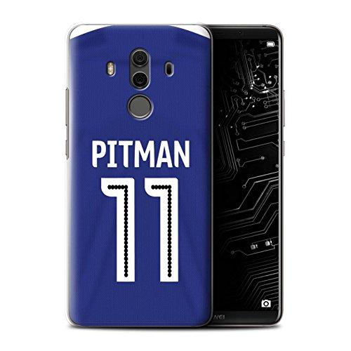 Offiziell Ipswich Town FC Hülle / Case für Huawei Mate 10 Pro / Pitman Muster / ITFC Trikot Home 16/17 Kollektion