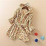 Bearony Gemütlich Kinder Kleinkinder Leopard Muster Flanell Bademantel mit Kapuze Bademantel Nachtwäsche Nachthemd Pyjamas