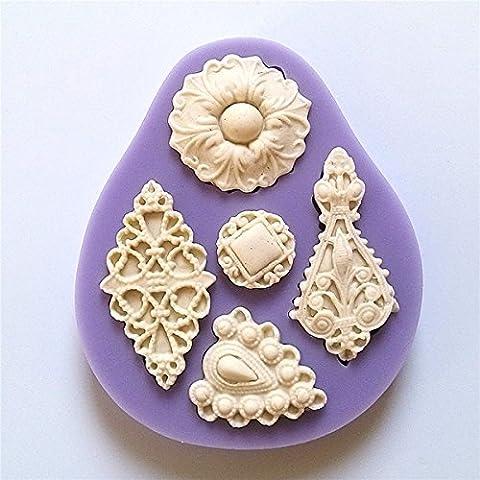 Bluelover 3D Dentelle En Silicone Pour Pâte À Sucre Chocolat Décoration Moule Moule À Gâteau Diy
