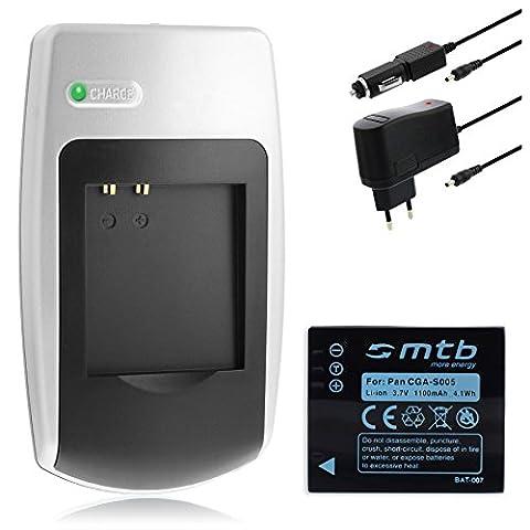 Chargeur + Batterie CGA-S005 pour Panasonic Lumix DMC-FS2, FX01, FX07, FX3, FX8, FX9