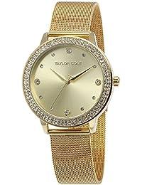 Amazon.es  caja relojes - Dorado   Relojes de pulsera   Mujer  Relojes 79e9b08b68a