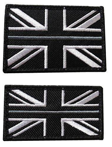 Dünn Grau Linie HM Prison Dienstzeit Union Jack Abzeichen Patch TRF HMP Haken & Schlaufe - Set (Jack Union Abzeichen)
