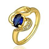 Sapphire Ring Gold Band