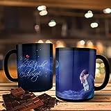 Printpops: Personalized Gift With A Beautiful Quotes Main Phir Bhi Tumko Chahunga | Birthday, Anniversary, Gift For Husband, Gift For Boyfriend, Boy, Fiance | 11oz Size | Black Ceramic Mug
