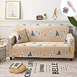 Universal Estiramiento Funda Sofá de 1 2 3 4 plazas, Morbuy Linda Cómodo Sofá Cubre Furniture Protector Antideslizante Elastic Soft Sofa Couch Cover (3 plazas,Infantil)