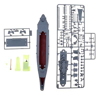 P Prettyia Yamato Battleship Marine Militaire RC Maquette De Bateau 1/700 Échelle Télécommande Marine Navire De Guerre WW2