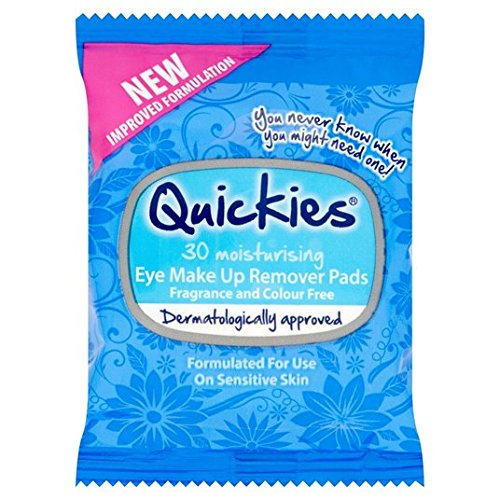 Quickies Eye Make-Up Remover Pads 30 par paquet