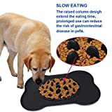 Skyworld Slow Feeder Dog Bowl - Slow Eating Dog Mat - Interactive Feeder - Slow Down Feed Dog Cat Feeding Bowl - Soft Pet Bloat Stop Dog Bowl Food Grade Safety Silicone(Black)