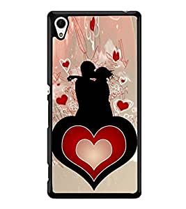 Love Couple Heart 2D Hard Polycarbonate Designer Back Case Cover for Sony Xperia Z4