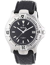 Mx Onda  - Reloj Analógico de Cuarzo para Hombre, correa de Cuero color Negro