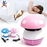 #10: Magnusdeal LED Mosquito Trap USB Operated Mosquito Inhaler Killer Lamp Mushroom- Eco-friendly Effective USB Insect Repeller Killer Mosquito Trap Lamp Without Radiation for Baby Pregnant Bedroom (Battery Not Required). Pink Color