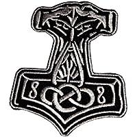 Thor`s Hammer Aufnäher Aufbügler Patch Germanen Mjölnir