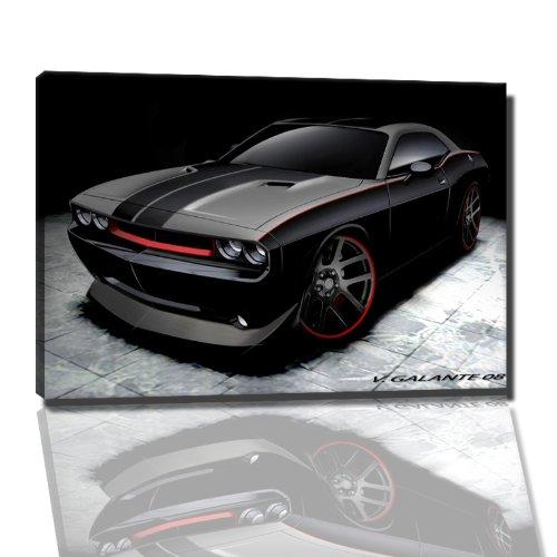 dark-dodge-charger-bild-auf-leinwand-80x60-cm-fertig-gerahmte-kunstdruckbilder-als-wandbild-billiger