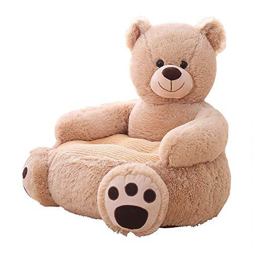 OAMORE Sessel Schlafsofa Tier für Kinder In Outdoor Sitzsäcke Kissen Sofa Sofakissen Hocker Sitzkissen Bodenkissen Füllung Möbel(Teddybär)