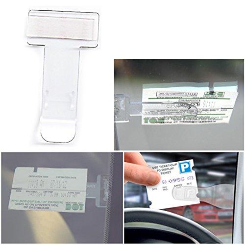 2–Véhicule Voiture Van Caravane pare-brise fenêtre Parking Ticket Clip Support Transparent