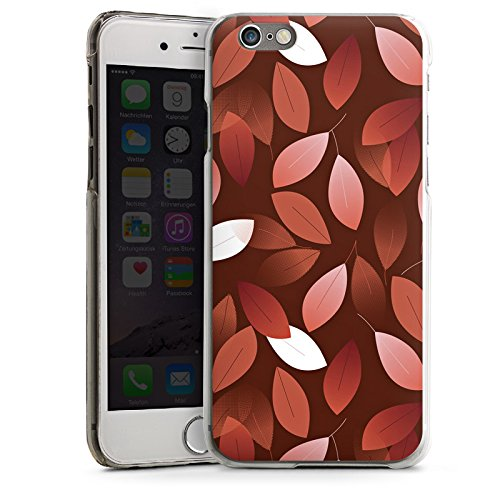 Apple iPhone 6 Housse Étui Silicone Coque Protection Automne Feuilles Bronze CasDur transparent