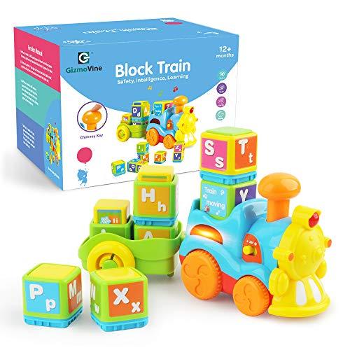 GizmoVine Spielzeug 3 Jahren Junge Lernspielzeug Alphabet Zug Bestes Spielzeug für 12 18 24 Monate Säugling Kind Baby Kleinkind -