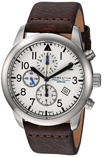 Momentum Men's Analog Japanese-Quartz Watch with Leather Strap 1M-SN34LS3C