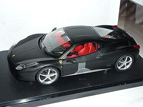 Ferrari 458 italia Matt Schwarz 1/18 Mattel Hot Wheels Modellauto Modell Auto (Schwarz 18 Wheels)