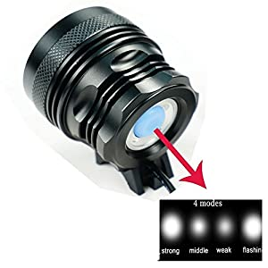 Linterna LáMPARA para 7x Cree XM-L T6 9800 lúmenes LED de bicicleta /bici lámpara Luz LED frontal para manillar de bicicleta bicicletas 3 modos con 8800mAH batería y cargador