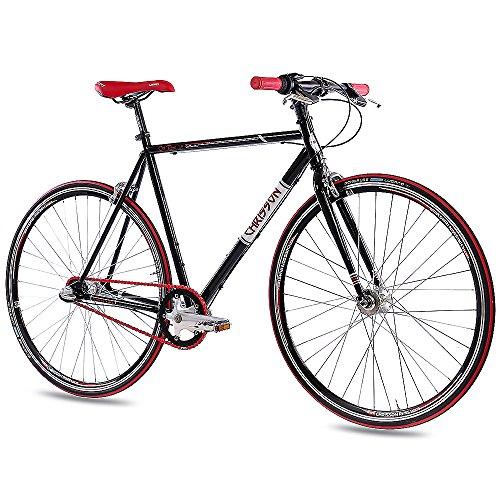 "CHRISSON 28\"" Zoll RENNRAD URBANRAD Unisex Fahrrad Old Road 1.0 mit 3G Shimano Nexus 56cm schwarz"
