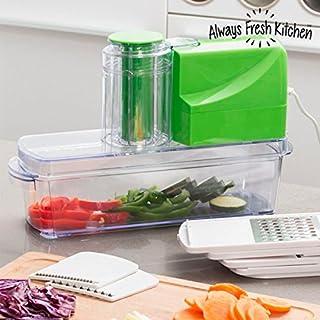 Always Fresh Kitchen Gemüsehobel Gemüse Mandoline Elektro 8in 1Mandomatik 25W