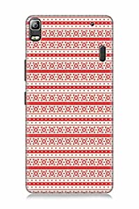FABCASE Premium seamlesspattern indicdesign indiandesign flowers dots love heart lovesymbol Printed Hard Plastic Back Case Cover for Lenovo K3 Note