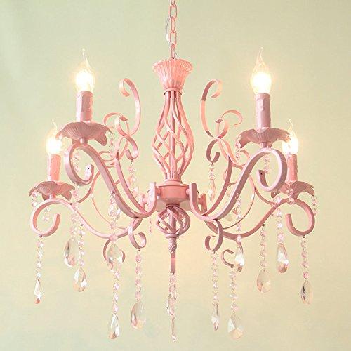 YI.LAN.YI lights Fish line pendel leuchte Die Zimmer kristall Kronleuchter Lampe Continental/Prinzessin Rosa Mädchen warmes Licht koreanischen Stil Ehe idyllische Kerzenleuchten -
