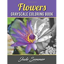Flowers Grayscale Coloring Book