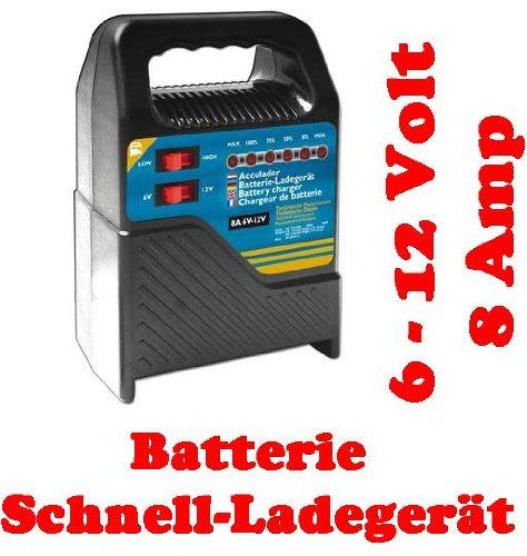 Preisvergleich Produktbild KFZ Batterieladegerät Batterielader Ladegerät 6V-12V 8A