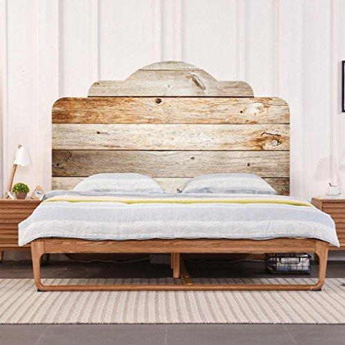 LNPP 3D DIY Wandaufkleber f¨¹r Schlafzimmer Imitation Bett Kopfteil Holz Textur Wand Dekor , double beds king size108*193